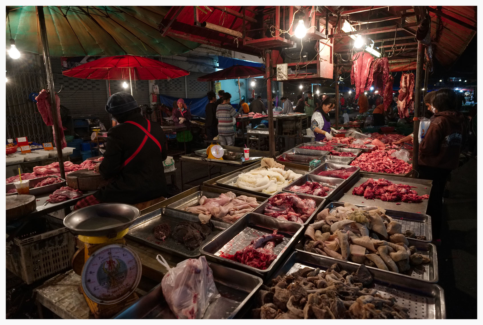 Night meat market